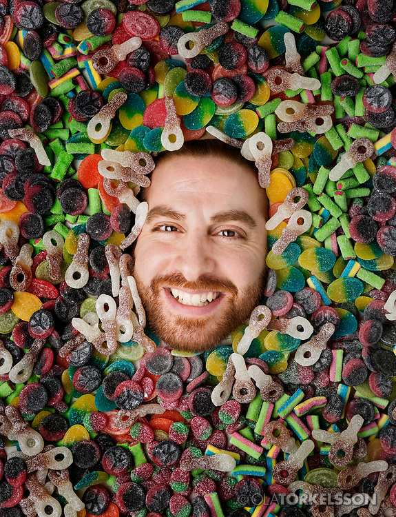 Portrait of the candy maker Jacob Youssef, CEO Candy People.<br />