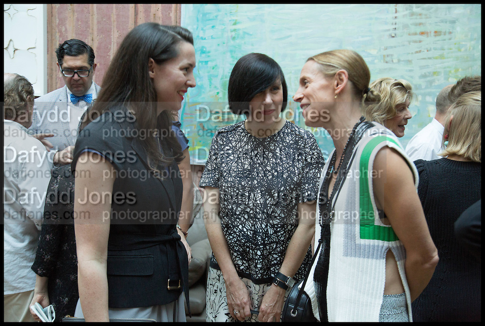 VICTORIA SIDDALL; ALICE RAWSTHORN; TIPHAINE DE LUSSY, Drinks party to launch this year's Frieze Masters.Hosted by Charles Saumarez Smith and Victoria Siddall<br />  Academicians' room - The Keepers House. Royal Academy. Piccadilly. London. 3 July 2014