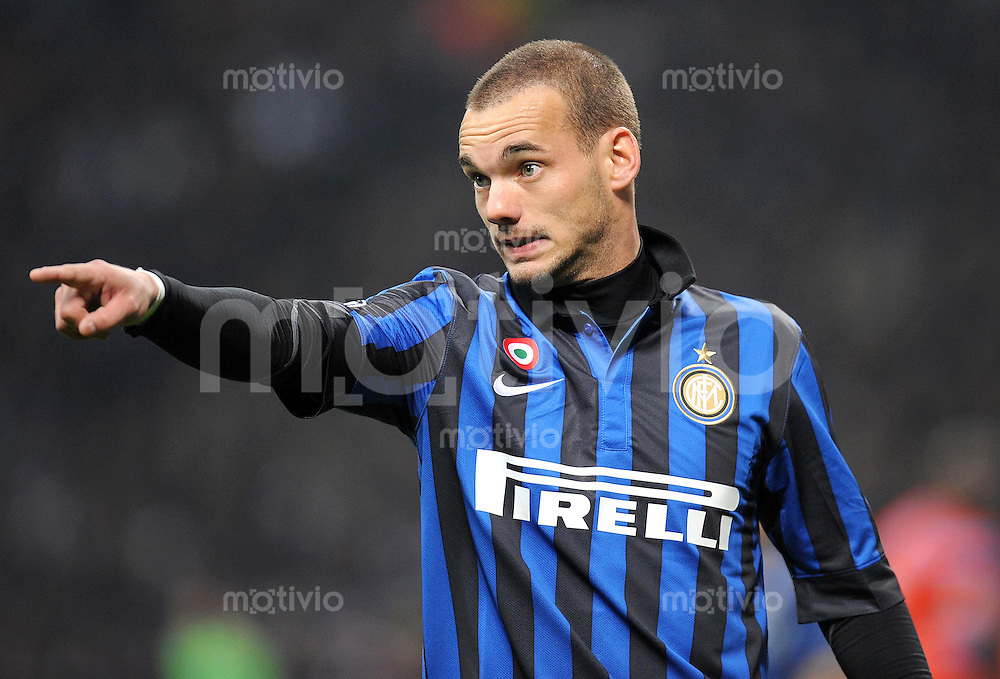FUSSBALL   CHAMPIONS LEAGUE   SAISON 2011/2012   13.03.2012 Inter Mailand - Olympique Marseille Wesley Sneijder (Inter Mailand)
