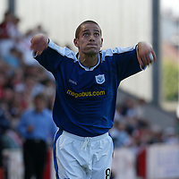 Paul Bernard, St Johnstone...07.08.04<br /><br />Picture by Graeme Hart.<br />Copyright Perthshire Picture Agency<br />Tel: 01738 623350  Mobile: 07990 594431