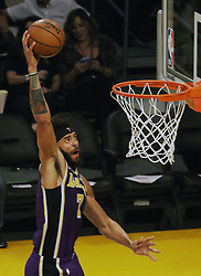 November 7, 2018 - Los Angeles, California, U.S - JaVale McGee #7 of the Los Angeles Lakers goes for a layup during their NBA game with the Minneapolis Timberwolves on Wednesday November 7, 2018 at the Staples Center in Los Angeles, California. Lakers defeat Timberwolves, 114-110. (Credit Image: © Prensa Internacional via ZUMA Wire)