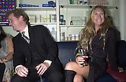 St. John Donald and Imogen Edward Jones. My Canape Hell book launch. Pharmacy. 5 October 2000. © Copyright Photograph by Dafydd Jones 66 Stockwell Park Rd. London SW9 0DA Tel 020 7733 0108 www.dafjones.com
