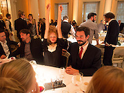OLIVIA INGE; Michelangelo Bendandi , Lisson Gallery dinner, Banqueting House. London. 15 October 2013