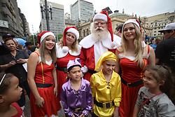November 17, 2018 - Sao Paulo,Brazil - Santa Claus rejoices children and adults in a shopping mall. (Credit Image: © Cris Faga/ZUMA Wire)