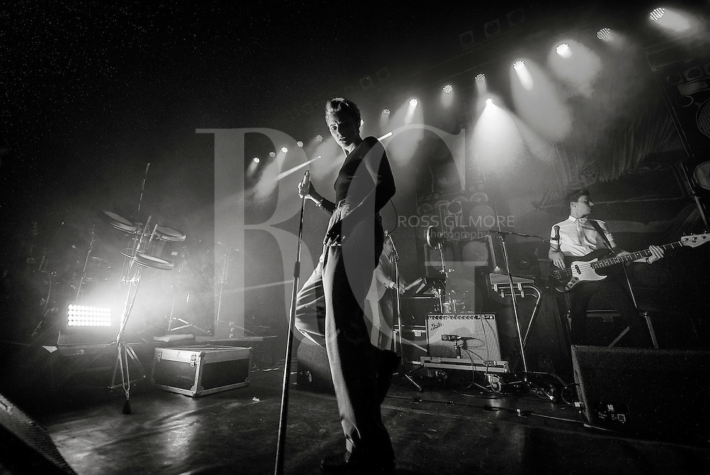 Elly Jackson of La Roux performs on stage at O2 ABC on November 5, 2014 in Glasgow, United Kingdom. (Photo by Ross Gilmore