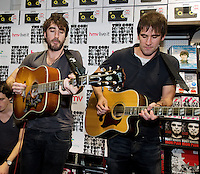 HMV welcomed The Coronas to HMV Galway  for a live performance and to sign copies of their nhighly anticipated third album Closer To You. Photo:Andrew Downes.