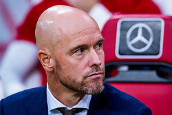 14-08-2018 NED: Champions League AFC Ajax - Standard de Liege, Amsterdam<br /> Third Qualifying Round,  3-0 victory Ajax during the UEFA Champions League match between Ajax v Standard Luik at the Johan Cruijff Arena / Coach Erik ten Hag of Ajax