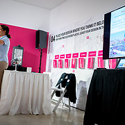 SEPTEMBER 25, 2017---MIAMI, FLORIDA---<br /> Lorena Z&aacute;rate, from the Habitat International Coalition, during her lecture: Cities for Whom: Social Inequalities and Urban Planning in Latin America. This was part of the Miami Dade College series, By the People.<br /> (Photo by Angel Valentin/Freelance).