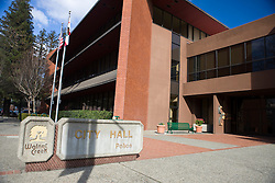 City Hall and Police Department, Walnut Creek, Contra Costa County, California, USA.