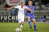 Fotball<br /> Frankrike<br /> Foto: Dppi/Digitalsport<br /> NORWAY ONLY<br /> <br /> FOOTBALL - UEFA CUP 2006/2007 - 1ST ROUND - 2ND LEG - AJ AUXERRE v DINAMO ZAGREB - 28/09/2006<br /> <br /> THOMAS KAHLENBERG (AUX) / JASMIN AGIC (DIN)