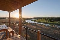 American Prairie Reserve's Lewis & Clark Hut at Judith Landing, Upper Missouri Breaks National Monument