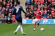Walsall defender Rico Henry during the Sky Bet League 1 match between Walsall and Southend United at the Banks's Stadium, Walsall, England on 16 April 2016. Photo by Chris Wynne.