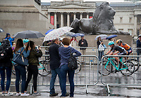 Spectators watch the Prudential RideLondon Classique from Trafalgar Square 29/07/2017<br /> <br /> Photo: Jed Leicester/Silverhub for Prudential RideLondon<br /> <br /> Prudential RideLondon is the world&rsquo;s greatest festival of cycling, involving 100,000+ cyclists &ndash; from Olympic champions to a free family fun ride - riding in events over closed roads in London and Surrey over the weekend of 28th to 30th July 2017. <br /> <br /> See www.PrudentialRideLondon.co.uk for more.<br /> <br /> For further information: media@londonmarathonevents.co.uk
