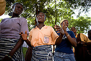 Latifa Alhassan (second from left), 15, dances with classmates during a cultural dance class outside the Savelugu Junior Secondary school in Savelugu, Ghana on Tuesday June 5, 2007..