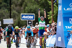 Elisa Balsamo (ITA) wins final sprint at Amgen Tour of California Women's Race empowered with SRAM 2019 - Stage 3, a 126 km road race from Santa Clarita to Pasedena, United States on May 18, 2019. Photo by Sean Robinson/velofocus.com
