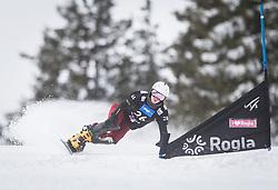Soboleva Natalia during the FIS snowboarding world cup race in Rogla (SI / SLO) | GS on January 20, 2018, in Jasna Ski slope, Rogla, Slovenia. Photo by Urban Meglic / Sportida