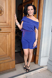 NANCY DELL'OLIO at a party to celebrate the publication of her book 'My Beautiful Game' held at the Italian Embassy, Grosvenor Square, London on 17th April 2008.<br />