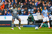 Wilfred Ndidi of Leicester City (25) in action during the Premier League match between Huddersfield Town and Leicester City at the John Smiths Stadium, Huddersfield, England on 6 April 2019.