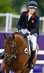 Zara Phillips on her mount High Kingdom  in the show jumping event at the London 2012 Olympics , Tuesday 31st July 2012 Photo by: i-Images