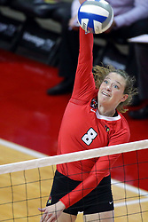 07 October 2017:  Ella Francis during a college women's volleyball match between the Crusaders of Valparaiso and the Illinois State Redbirds at Redbird Arena in Normal IL (Photo by Alan Look)