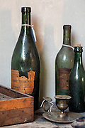 Bottles in Paul Cezanne's atelier in his house of Aix-en-Provence, France