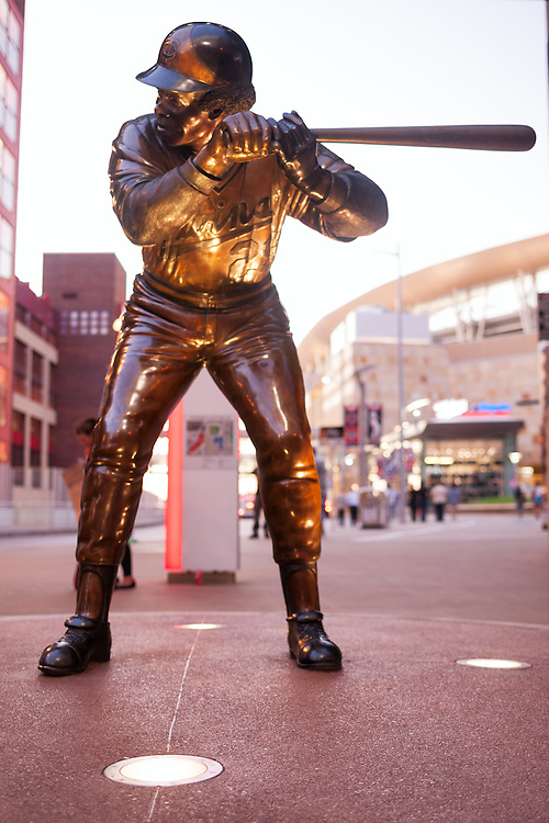 Rod Carew statue at Target Field home of the Minnesota Twins in Minneapolis, Minnesota.