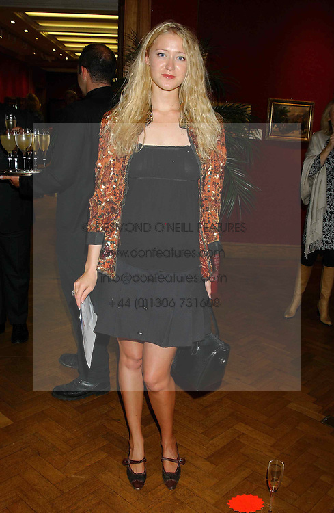 Actress SIOBHEN HEWLETT daughter of Donald Hewlett at a private view and auction of a collection of paintings, drawings and doodles by well known personalities to mark the Book launch of Ackroyd's Ark in Christie's, 8 King Street, St.James's, London on 20th September 2004 in aid of Tusk Trust.<br />