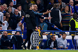 Chelsea manager Maurizio Sarri cuts a frustrated figure - Mandatory by-line: Robbie Stephenson/JMP - 18/04/2019 - FOOTBALL - Stamford Bridge - London, England - Chelsea v Slavia Prague - UEFA Europa League Quarter Final 2nd Leg