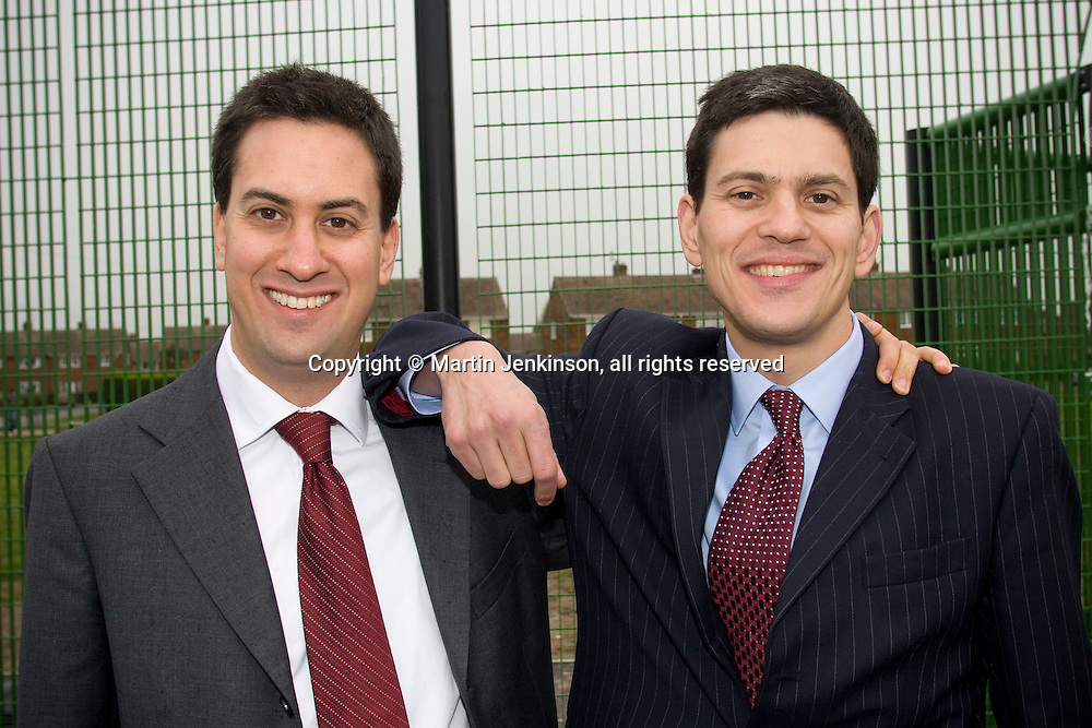 Ed Miliband, Minister for the Third Sector, and brother David Miliband, Secretary of State for Environment, Food and Rural Affairs .