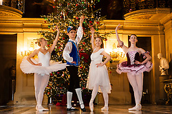 Chatsworth House Press Launch - Ballerinas from the  Nutcracker at Chatsworth on the Eve of its Christmas Season Opening left to right Dancers, Daisy Kerry, Ben Jones, Daisy Edwards and Alice Rathbone<br /> <br />   04 October 2016<br />   Copyright Paul David Drabble<br />   www.pauldaviddrabble.photoshelter.com
