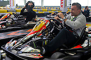 Michal Przysiezny of Poland while GoKarts Racing on F1 Karting Track four days before the BNP Paribas Davis Cup 2014 between Poland and Croatia in Warsaw on March 31, 2014.<br /> <br /> Poland, Warsaw, March 31, 2014<br /> <br /> Picture also available in RAW (NEF) or TIFF format on special request.<br /> <br /> For editorial use only. Any commercial or promotional use requires permission.<br /> <br /> Mandatory credit:<br /> Photo by &copy; Adam Nurkiewicz / Mediasport