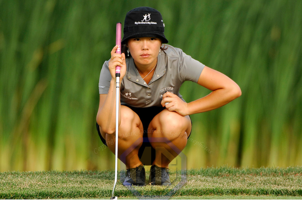 10 June 2007:  Angela Park contemplates her putt on the 18th hole in the McDonald's LPGA Championship. The tournament was won by Suzann Pettersen of Norway who won by one stroke after shooting a 14 under par at Bulle Rock Golf Course in Havre de Grace, Md. .  ****For Editorial Use Only****