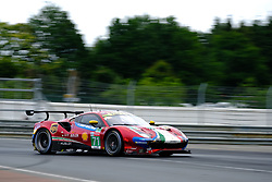 June 17, 2018 - Le Mans, Sarthe, France - AF Corse FERRARI 488 GTE EVO Driver SAM BIRD (GBR) in action during the 86th edition of the 24 hours of Le Mans 2nd round of the FIA World Endurance Championship at the Sarthe circuit at Le Mans - France (Credit Image: © Pierre Stevenin via ZUMA Wire)