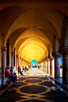 """Resting Under the Arches of the Doge's Palace – Venice""…<br />