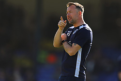 Bristol Rovers assistant manager Marcus Stewart watches on during the warm up - Mandatory by-line: Richard Calver/JMP - 05/05/2018 - FOOTBALL - Roots Hall - Southend-on-Sea, England - Southend United v Bristol Rovers - Sky Bet League One