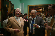 Paul Johnson and John Gross. Celebration of Lord Weidenfeld's 60 Years in Publishing hosted by Orion. the Weldon Galleries. National Portrait Gallery. London. 29 June 2005. ONE TIME USE ONLY - DO NOT ARCHIVE  © Copyright Photograph by Dafydd Jones 66 Stockwell Park Rd. London SW9 0DA Tel 020 7733 0108 www.dafjones.com