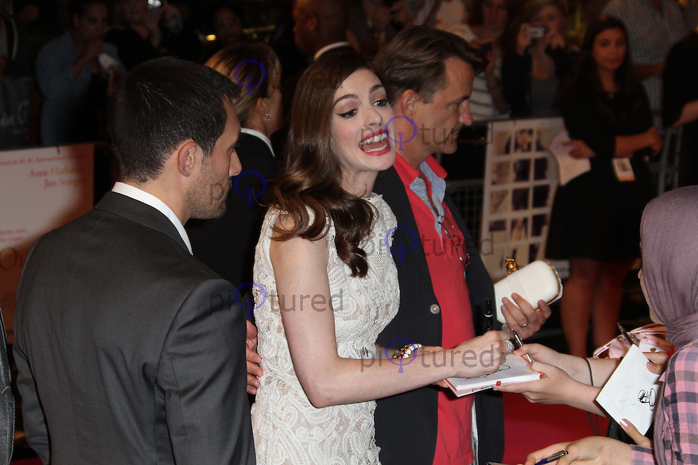 Anne Hathaway One Day European Premiere, Westfield, London, UK, 23 August 2011:  Contact: Rich@Piqtured.com +44(0)7941 079620 (Picture by Richard Goldschmidt)