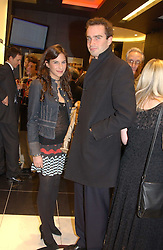 "FRITZ VON WESTENHOLTZ and CAROLINE SIEBER at a party to celebrate the opening of the new Mont Blanc store at 151 Sloane Street, London on 9th March 2005.  The evening was held in conjunction with UNICEF's ""Sign up for the right to write"" campaign which is raising money though the sale of celebraties 'statements' currently for auction on the ebay website.<br />