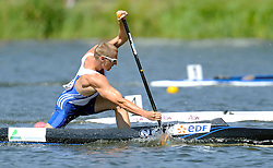 THOMAS SIMART (FRANCE) COMPETES IN MEN'S C1 200 METERS QUALIFICATION RACE DURING 2010 ICF KAYAK SPRINT WORLD CHAMPIONSHIPS ON MALTA LAKE IN POZNAN, POLAND...POLAND , POZNAN , AUGUST 21, 2010..( PHOTO BY ADAM NURKIEWICZ / MEDIASPORT ).