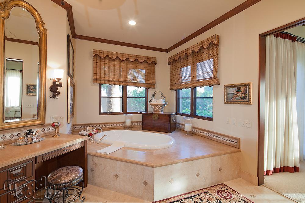 Spacious luxury bathroom in villa