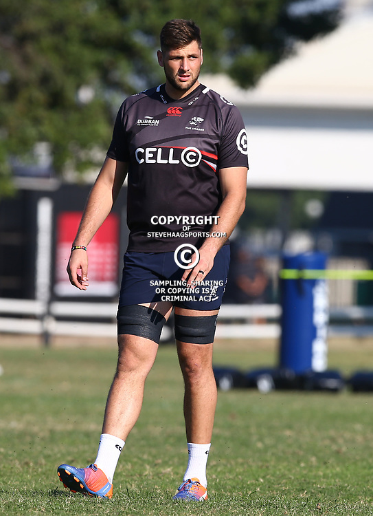 Ruan Botha during The Cell C Sharks training session at Growthpoint Kings Park in Durban, South Africa 25th July 2017 (Photo by Steve Haag)<br /> <br /> images for social media must have consent from Steve Haag