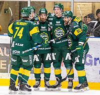 2020-01-17 | Umeå, Sweden:Björklöven (13) Fredric Andersson score 6-2 in HockeyAllsvenskan during the game  between Björklöven and Timrå at A3 Arena ( Photo by: Michael Lundström | Swe Press Photo )<br /> <br /> Keywords: Umeå, Hockey, HockeyAllsvenskan, A3 Arena, Björklöven, Timrå, mlbt200117