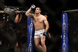 October 24, 2009; Los Angeles, CA; USA;  Mauricio Rua enters the octagon for his UFC light heavyweight championship bout against Lyoto Machida at UFC 104.   Machida won via controversial unanimous decison .  Mandatory Credit:  Ed Mulholland