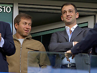 Photo: Daniel Hambury.<br />Chelsea v Portsmouth. The Barclays Premiership. 21/10/2006.<br />Chelsea's owner Roman Abramovich (L)  and Portsmouth's owner Alexandre Gaydamak.