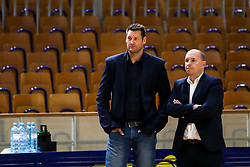 Goran Jagodnik, team manager of KK Sixt Primorska and Matej Avanzo, director of KK Sixt Primorska, during basketball match between Basketball - KK Petrol Olimpija Ljubljana and KK Sixt Primorska in Round #7 of Liga Nova KBM za prvaka 2018/19, on April 11th, 2019 in Hala Tivoli, Slovenia. Photo by Matic Klansek Velej / Sportida
