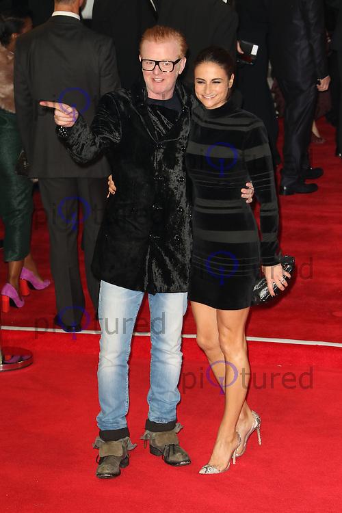 Chris Evans, Natasha Shishmanian, Bond: Spectre - World Premiere & Royal Film Performance, Royal Albert Hall, London UK, 26 October 2015, Photo by Richard Goldschmidt