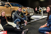 ALIE DYON-JONES; SHANE LYNCH; TORIE CAMPBELL, Preview for The London Motor Show, Battersea Evolution. London. 5 May 2016