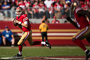 San Francisco 49ers quarterback C.J. Beathard (3) runs against the New York Giants at Levi's Stadium in Santa Clara, Calif., on November 12, 2017. (Stan Olszewski/Special to S.F. Examiner)