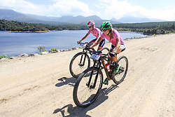 The OMX Pro MTB duo of Cherie Redecker (left) and Mariske Strauss (right) raced to thier fourth straigh stage victory on Stage 3 of the Cape Pioneer Trek, on 19th of October 2016.<br /> <br /> <br /> Photo by: Oakpics/ Cape Pioneer Trek / SPORTZPICS<br /> <br /> <br /> {dem16gst}