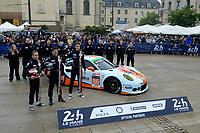 Michael Wainwright (GBR) / Adam Carroll (GBR) / Ben Barker (GBR) #86 Gulf Racing UK Porsche 911 RSR,  during the Le Mans 24 Hr June 2016 at Circuit de la Sarthe, Le Mans, Pays de la Loire, France. June 13 2016. World Copyright Peter Taylor/PSP.